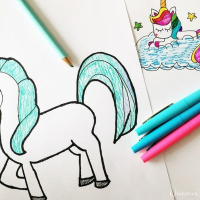 How to Draw a Unicorn - Our Favorite Tutorials - UnicornsFairiesGlitter.com