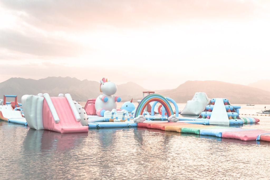 Unicorn Island by Inflatable Islands - UnicornsFairiesGlitter.com