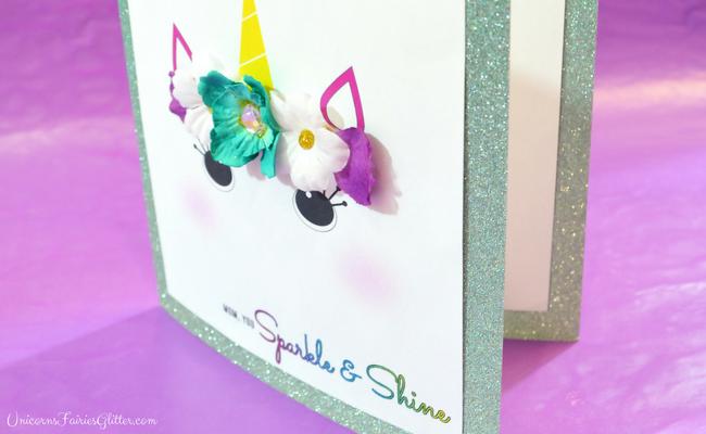 DIY Unicorn Glitter Mother's Day Card Craft- UnicornsFairiesGlitter.com