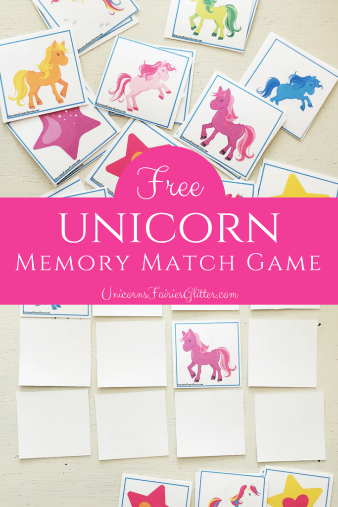 photograph relating to Make Your Own Matching Game Printable named Cost-free Unicorn Memory Recreation Video game - Unicorns, Fairies Glitter