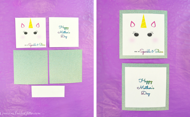 Handmade Glitter Unicorn Mother's Day Card Craft- UnicornsFairiesGlitter.com