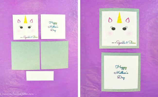 Handmade Glitter Unicorn Mother's Day Card Craft- UnicornsFairiesGlitter.com