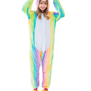 Unicorn Rainbow Pajama Costume for Adults
