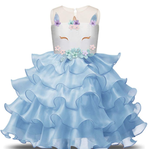 Unicorn Party Dress for Girls
