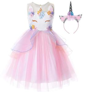 Pink Unicorn Princess Dress